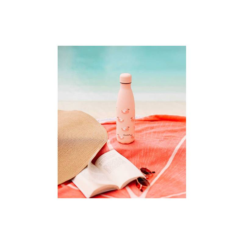 Bouteille Isotherme Flamingo 500 ml QWETCH