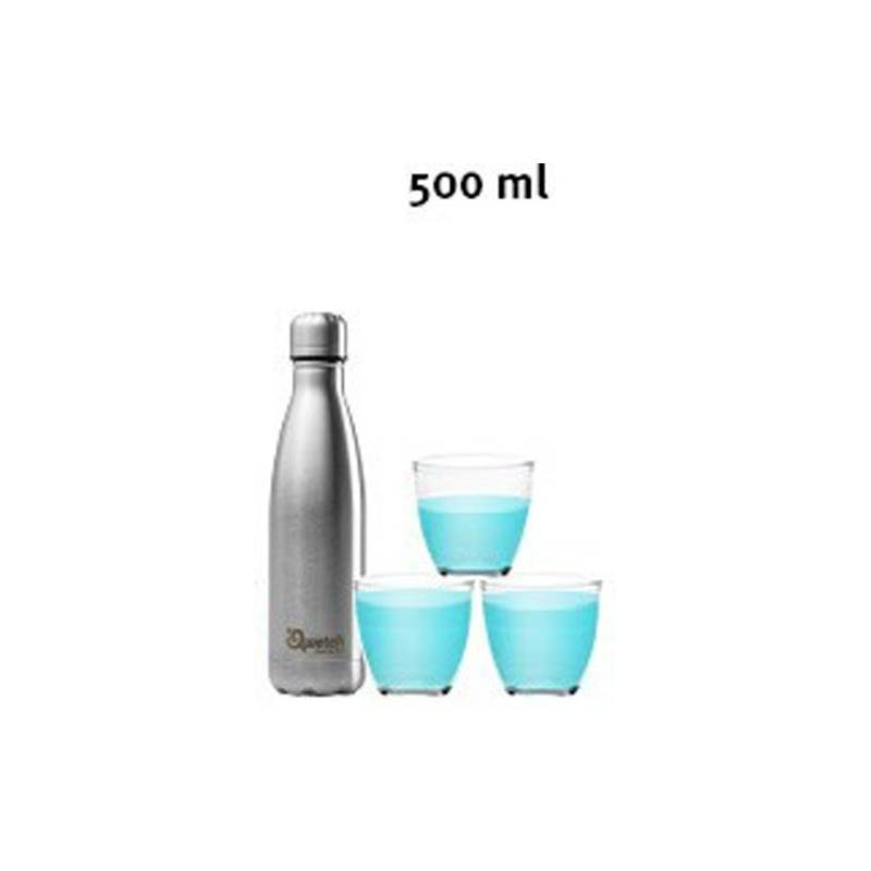 Bouteille Isotherme Blanc Mat Gold 500 ml QWETCH